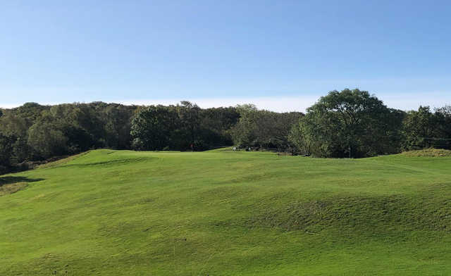 A view of the 16th hole at Silverdale Golf Club.