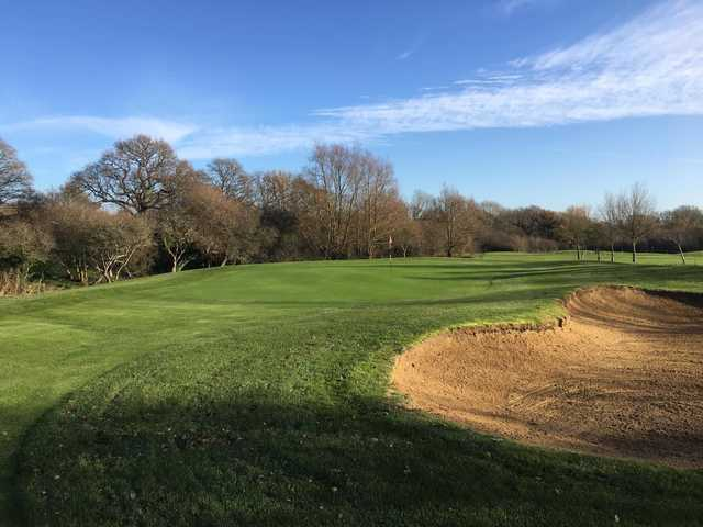 A view of a green at Mid Sussex Golf Club.