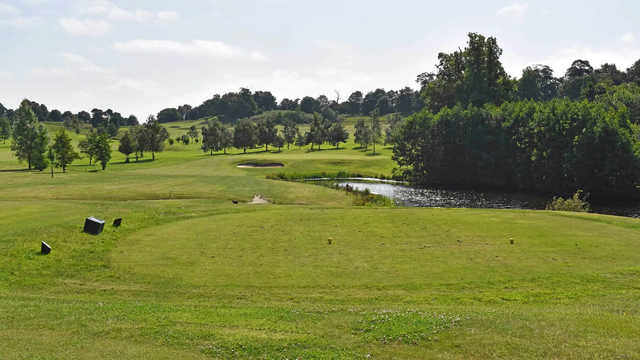 A view from a tee at Godstone Golf Club.