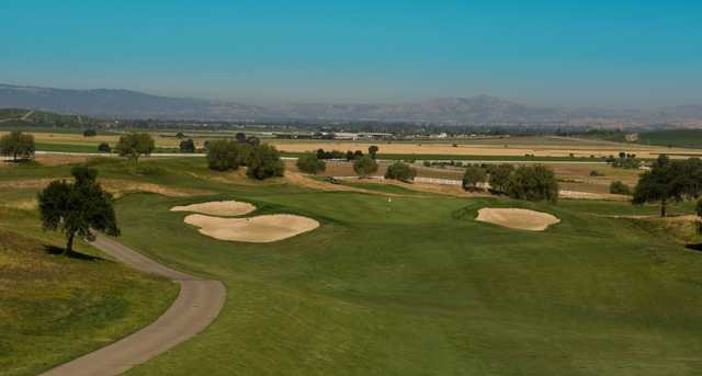 A view of a hole at Poppy Ridge Golf Course.