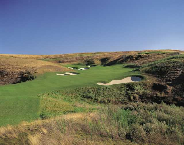 A view of a fairway at Poppy Ridge Golf Course.