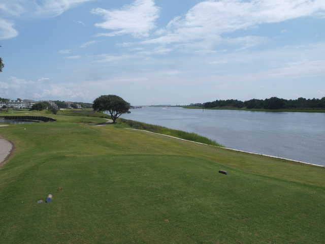 View from the 18th tee at The Links At Brick Landing.