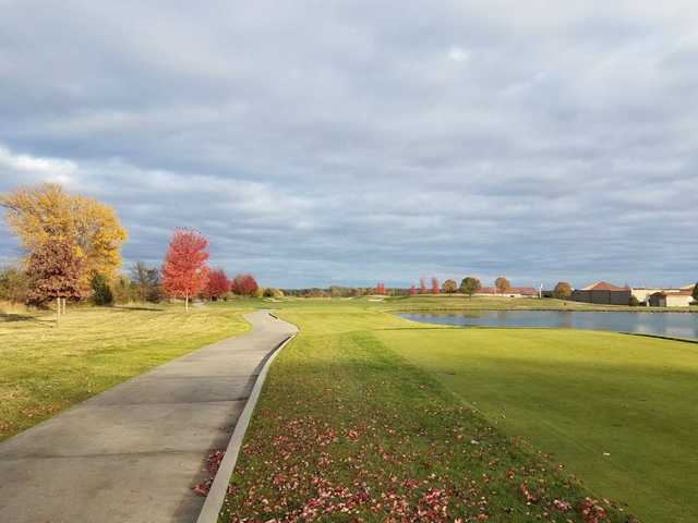 A splendid fall day view from a tee at Blue Top Ridge At Riverside.