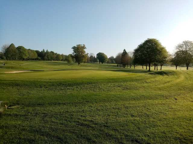 A sunny day view of a green at Dundrum Golf Course Tipperary.
