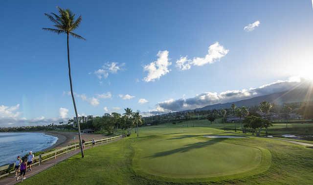 View from the 5th green at Royal Ka'anapali.