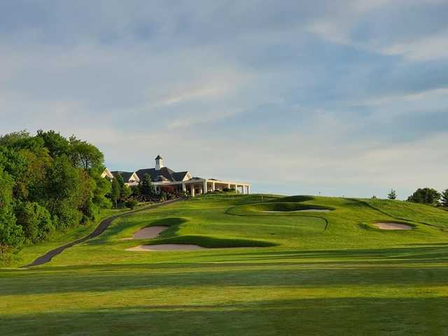 View from a fairway at New York Country Club.