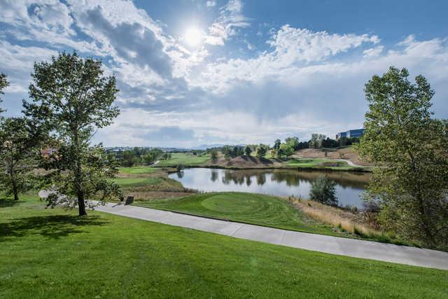 A view from Interlocken Golf Club.