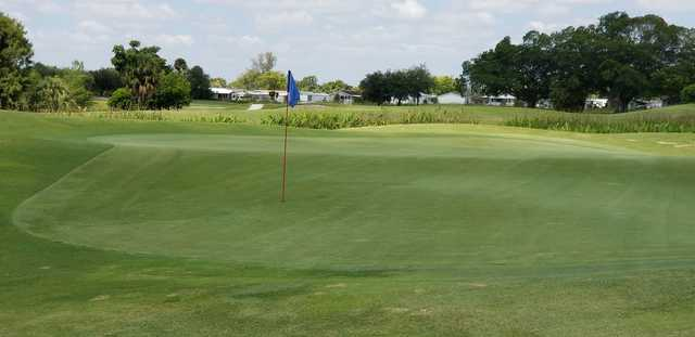 A view of a hole at Davie Golf & Country Club.