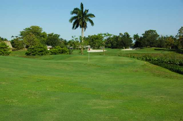 A view of two holes at Davie Golf & Country Club.