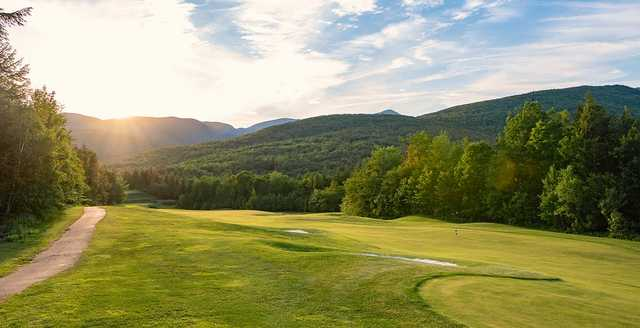 A view of the 7th fairway at Sunday River Golf Club.
