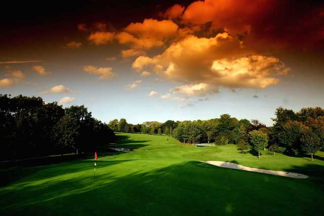 A view of a hole at Leicestershire Golf Club.