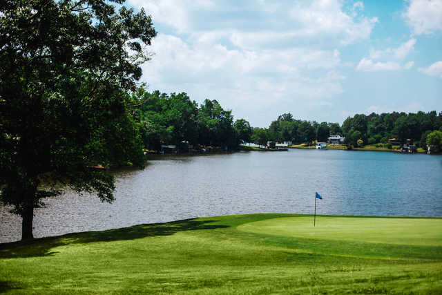 View of a green at Pine Lake Golf Club.