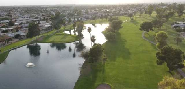 Aerial view of the 7th hole at Sun City Country Club.