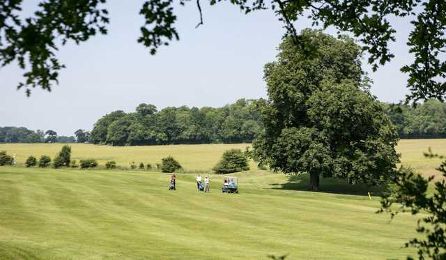 A view of a fairway at Orchardleigh Golf Club.