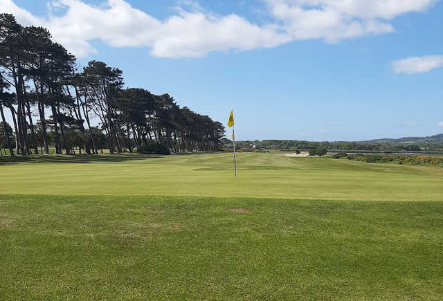 A view of a hole at Greenore Golf Club.