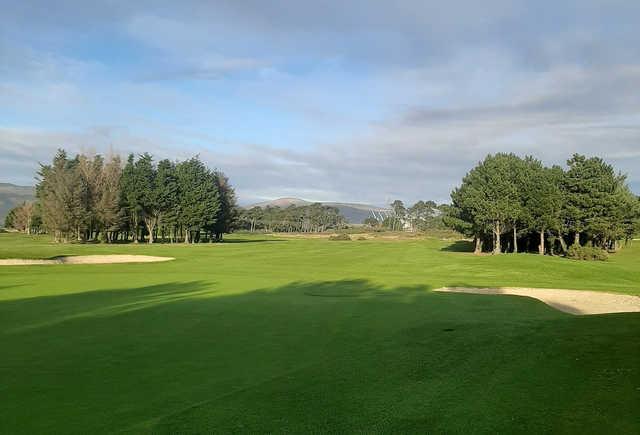 A view of a fairway at Greenore Golf Club.