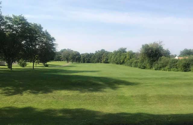 A view of a fairway at Hilldale Golf Club.