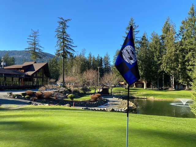 View from a green at Cultus Lake Golf Club.