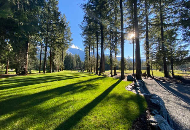 A view from Cultus Lake Golf Club.