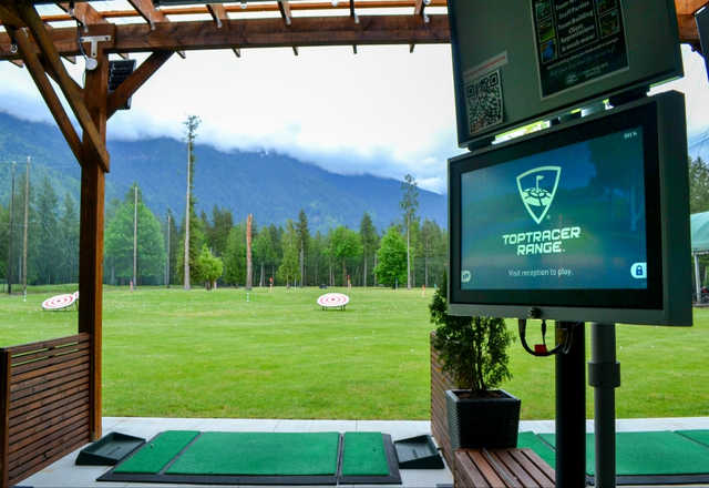 A view from the driving range at Cultus Lake Golf Club.