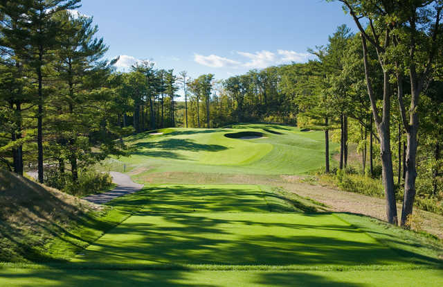 A spring day view from a tee at Eagles Nest Golf Club.