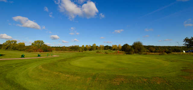 View of the 18th green at Chingford Golf Course.