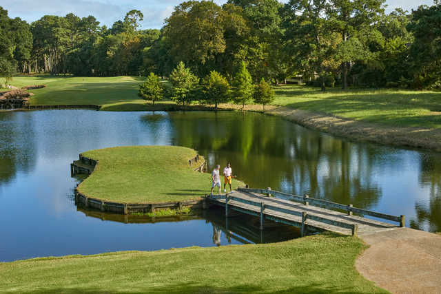 View of the 15th hole at The Golf Club at Margaritaville Lake Resort.