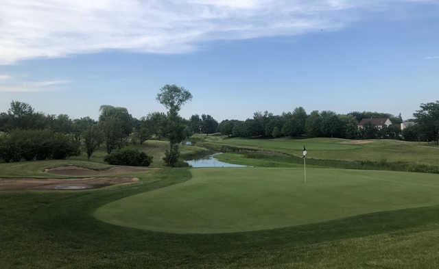 A view of a hole at Arboretum Golf Club.