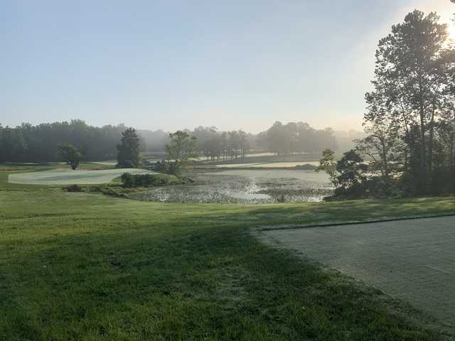 View from a tee at The Preserve at Eisenhower Golf Course.