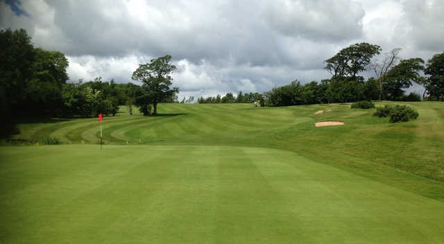 A view of a hole at Bracken Ghyll Golf Club.