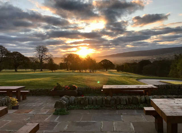 A sunset view from Bracken Ghyll Golf Club.