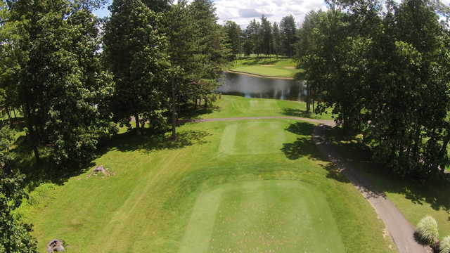 Aerial view from the 5th tee at Apple Valley Golf Club.