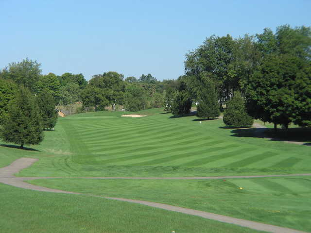 View of the 15th fairway and green at Apple Valley Golf Club.