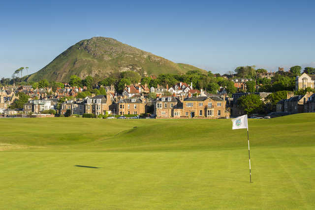 View from the 1st green at The North Berwick Golf Club.