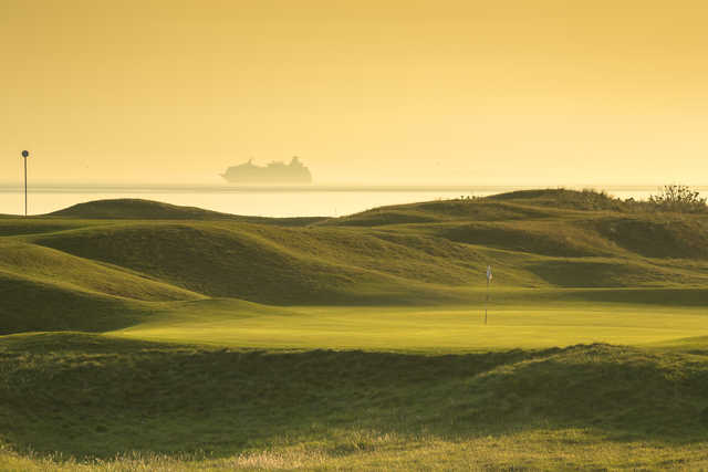 View of the 4th green at The North Berwick Golf Club.