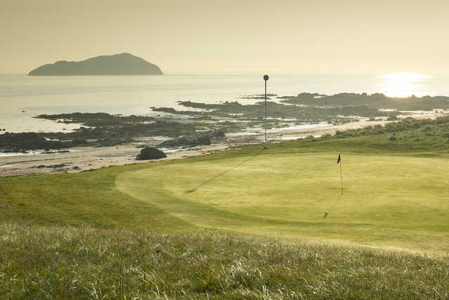 View of the 14th green at The North Berwick Golf Club.