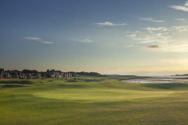 View of the 17th green at The North Berwick Golf Club.