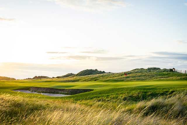 View of a green at The North Berwick Golf Club.