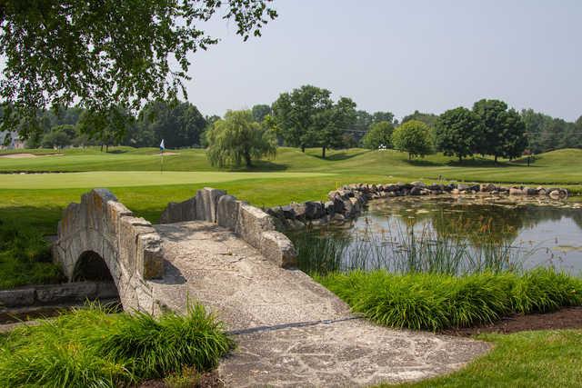 A view over a pond at Aldeen Golf Club.