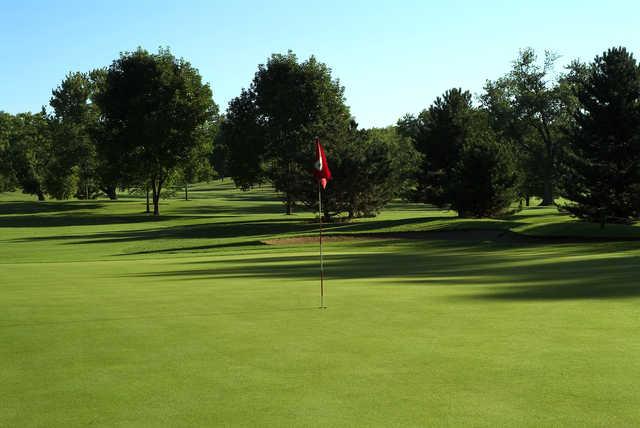 A view of a hole at Bartlett Hills Golf Club.