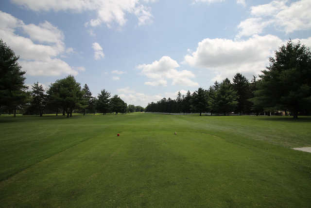 A view from tee #1 at Nippersink Golf Club & Resort.