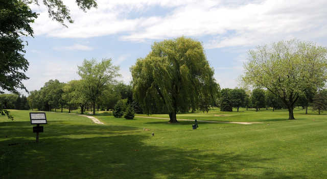 A view of a tee at Renwood Golf Course.