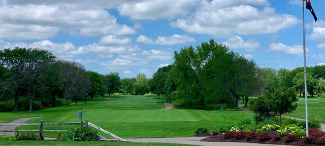 A view of a tee at Cherokee Country Club.
