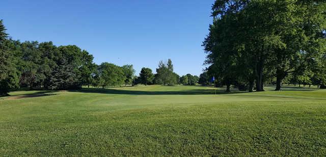 A view of hole #18 at Hartford Golf Club.