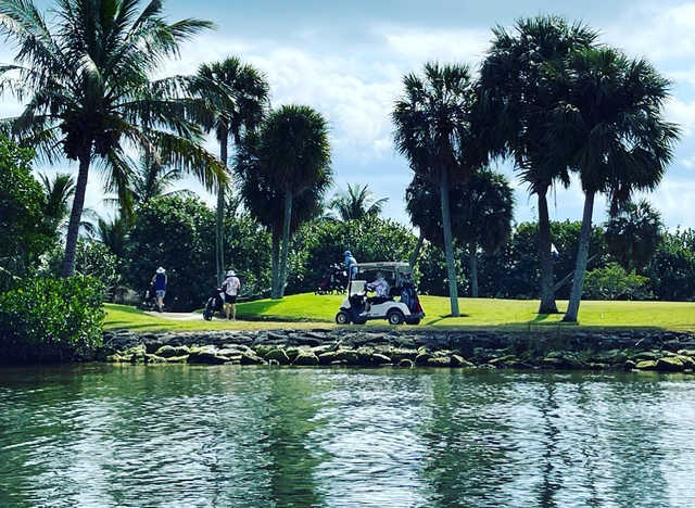 A view over the water from Moorings Course at The Moorings Yacht & Country Club.