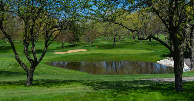 A view of a hole at Meadowbrook Country Club.