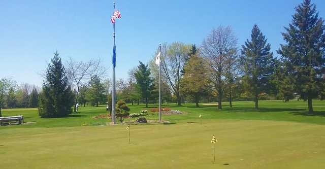 A view of the practice putting green at NorthBrook Country Club.