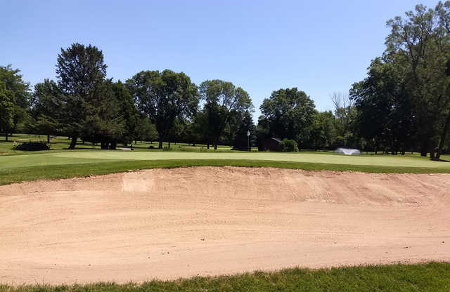 A view of a hole at Oshkosh Country Club.