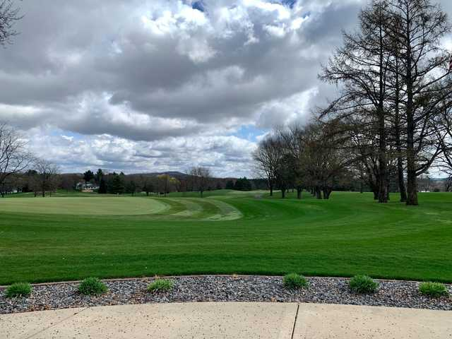 A spring day view from Reedsburg Country Club.