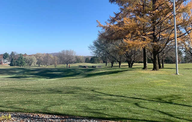 A fall day view from Reedsburg Country Club.